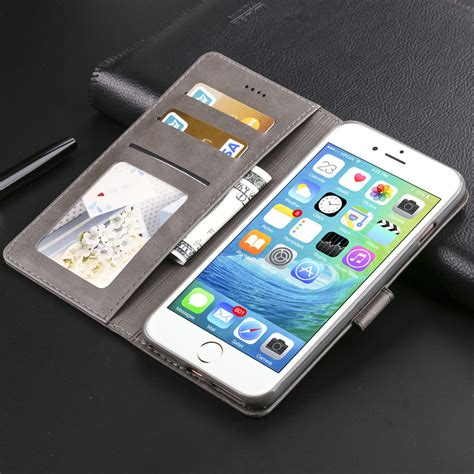for iphone 8 plus xs max xr retro magnetic leather wallet stand flip cover ebay