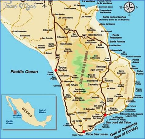map cabo mexico los cabos map toursmaps