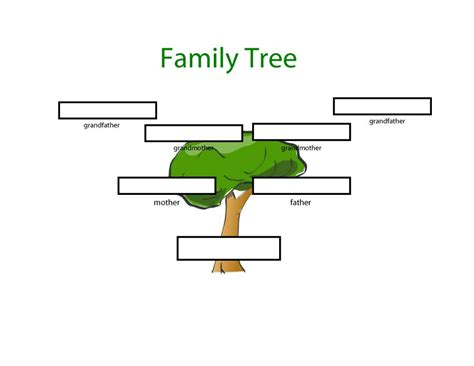Template Of Tree by 50 Free Family Tree Templates Word Excel Pdf