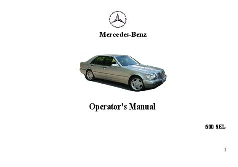 automotive repair manual 1992 mercedes benz 600sel security system 1992 mercedes benz 600sel w140 owners manual