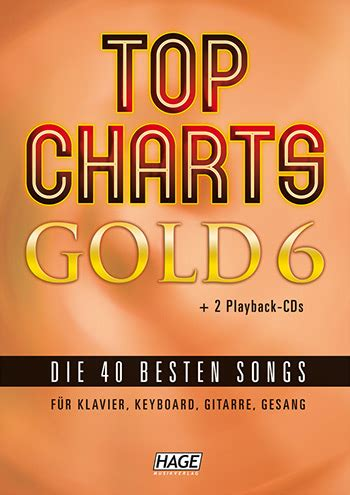 Cd Gesang The Best By Club top charts gold band 6 2 cd s songbook klavier keyboard