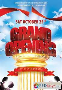 grand opening flyer template free grand opening psd flyer template cover 187 free