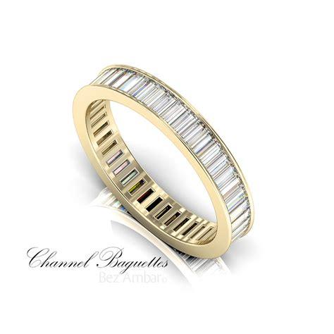 Wedding Bands Baguette Diamonds by A Gold Baguette Wedding Band By Bez Ambar