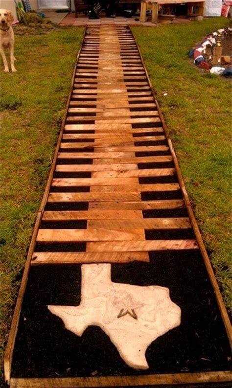 diy wood walkway  woodworking