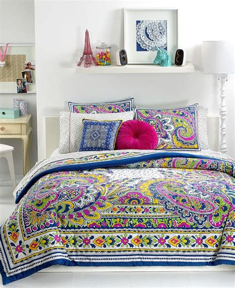 teen bedding teen vogue bedding pret a paisley comforter sets teen bedding bed bath macy s