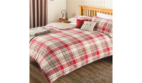 George Home Red Check Duvet Set Bedding Asda Direct Asda Bed Sets