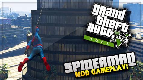 mod gta 5 spiderman gta 5 pc mods spiderman mod with web swing gta 5