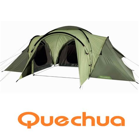 3 bedroom tent quechua t6 3 6 berth six tent with 3 bedrooms ebay