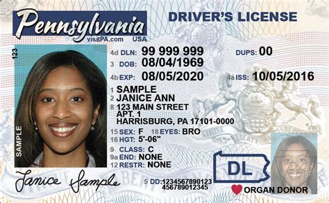 new jersey id card template free pennsylvania dot practice permit test 2018 pa