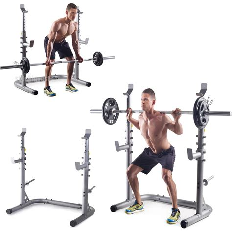 bench and squat workout golds gym workout squat rack bench power weight stand