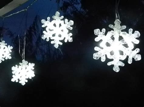 snowflake led curtain string christmas light decoration