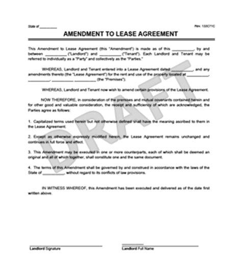 Lease Amendment Sle Letter stunning lease amendment template pictures inspiration exle resume ideas alingari