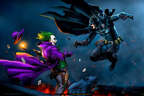 imagenes de joker y batman joker vs batman mac heat