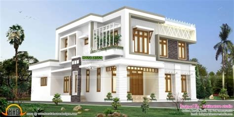 5 Bedroom Contemporary House With Plan Kerala Home Stylish Contemporary Style 6 Bedroom Home Kerala Home Design And Floor 6 Bedrooms Kerala House