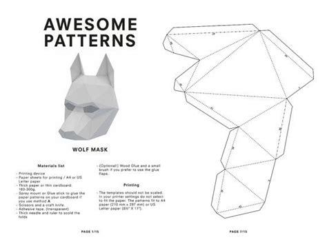 printable animal heads wolf mask diy printable animal head printable mask for