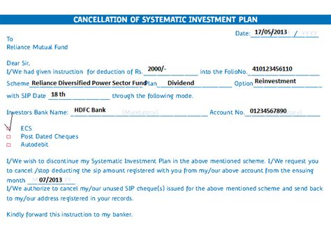 Sip Cancellation Letter Format investing can be interesting financial awareness how to canel systematic investment plan