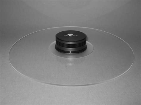 Turntable Mat by Delta Device Acrylic Turntable Mat Clear With Label Recess