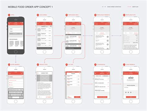 application design concepts mobile food ordering app concept on behance