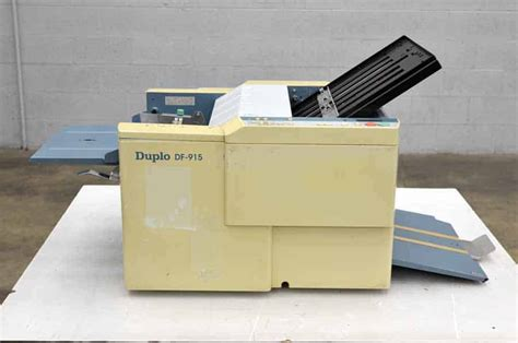 Paper Folding Equipment - duplo df 915 paper folding machine boggs equipment