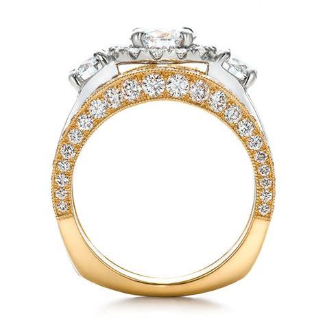 2 tone wedding ring sets estate two tone wedding and engagement ring set 100619