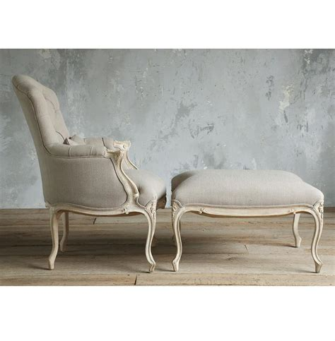 gray armchair with ottoman duchess french country bergere armchair and ottoman in