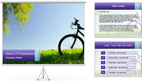 new bicycle powerpoint template backgrounds id