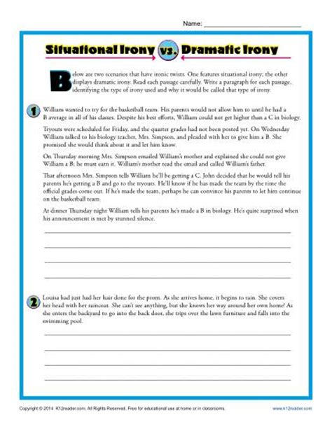 Irony Worksheets by Pictures Types Of Irony Worksheet Getadating