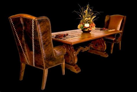 wing chair dining table cattle baron collection tuscan dining table with cheyenne