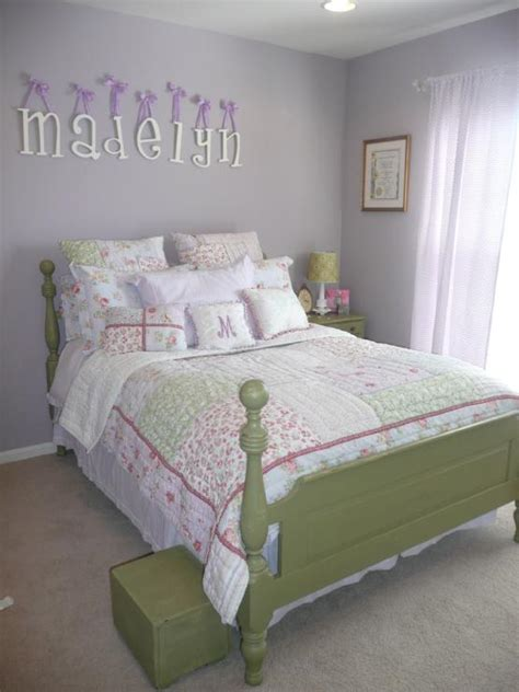 lavender bedroom walls green bed traditional girl s room sherwin williams