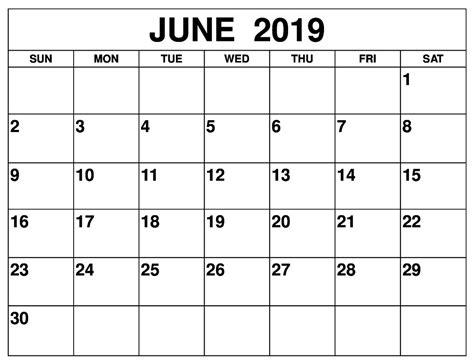 blank june  calendar  word  cute template