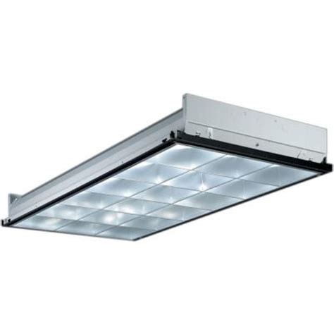 Ceiling Grid Lighting Lithonia Lighting 2 Ft X 4 Ft 3 Light Grid Ceiling Silver Parabolic Fluorescent Troffer With