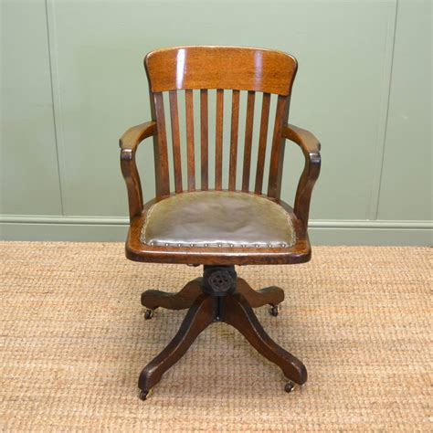 Antique Office Furniture by Quality Edwardian Oak Antique Swivel Office Chair