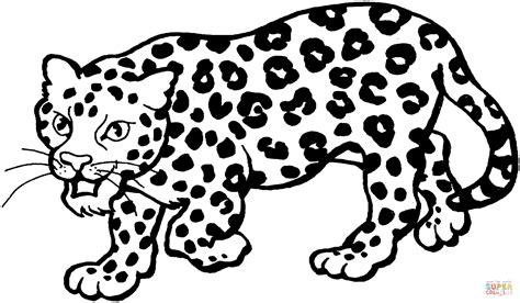 snow leopard cartoon coloring page coloring pages