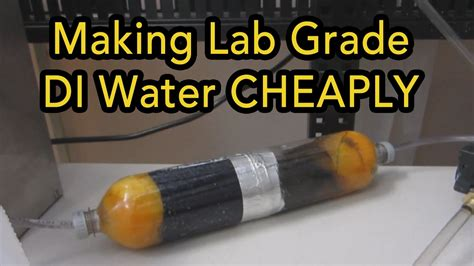 diy di water purification system diy deionized water filter 18ppm reduction make your own deionized laboratory water