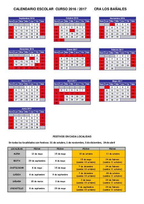 calendario oficial 2016 2017 slidesharenet calendario escolar cra 16 17