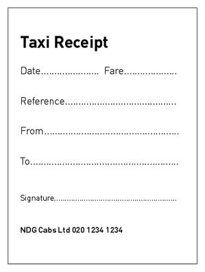 blank cab receipt template taxi invoice template uk hardhost info