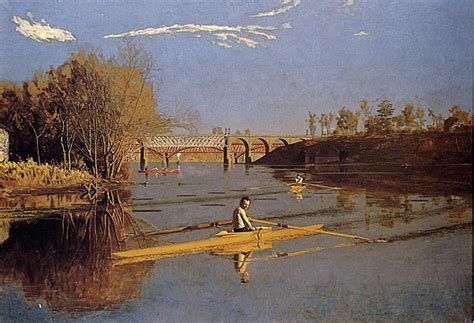 sculling boat painting thomas eakins