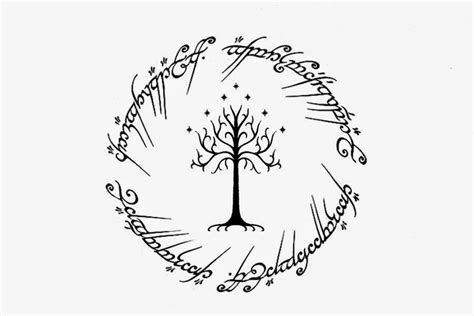 inscription tattoo designs visual design lord of the rings design white tree