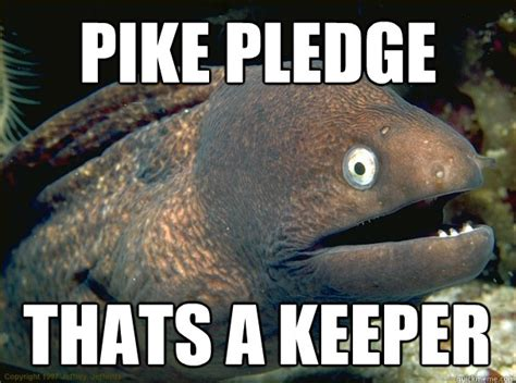 Pike Meme - pike pledge thats a keeper bad joke eel quickmeme