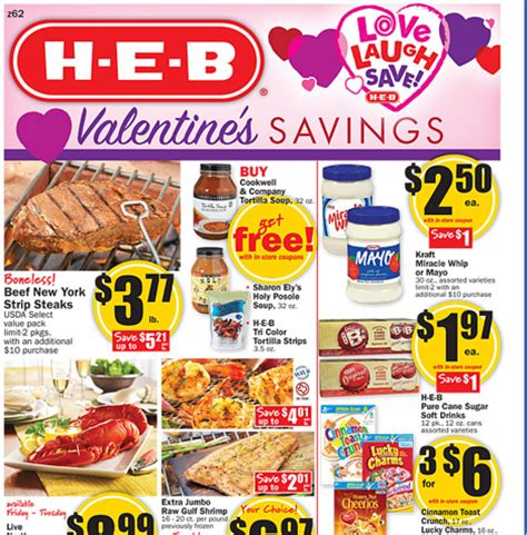 free printable grocery coupons heb heb weekly deals feb 8th to the 14th mylitter one deal