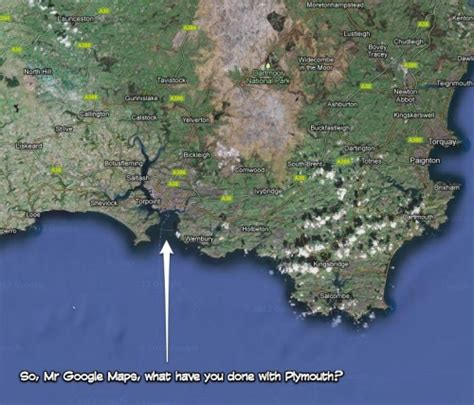google images not zooming so mr google maps what have you done with plymouth