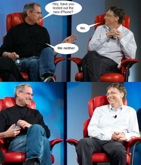 Steve Jobs And Bill Gates Meme - steve jobs vs bill gates comic meme collection 1mut com