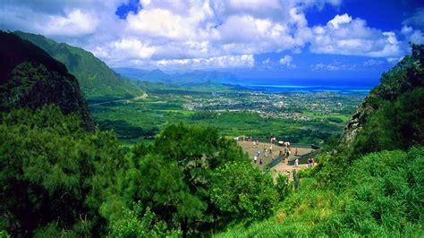 Landscaping Oahu Wallpaper Nuuanu Pali Oahu Hawaii Mountains Landscape