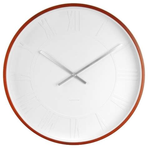 big modern wall clocks wood finish mr white numeral wall clock