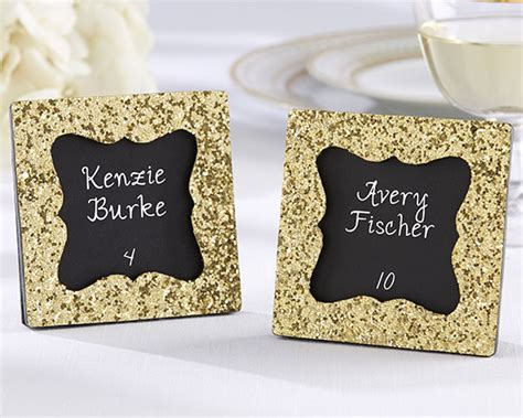 glitter placecard holders quot all that glitters quot gold glitter frame gold place card