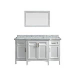 60 Sink Vanity Home Depot Sassy 60 In Vanity In White With Marble Vanity Top In Carrara White Bf90225 The Home Depot