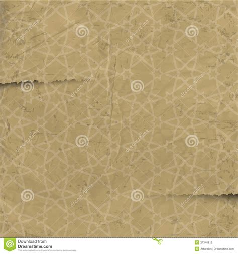 old paper pattern vector old paper with arabic pattern stock photography image