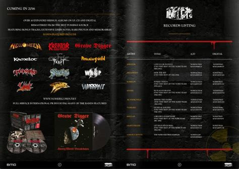 Bmg Metal by Seminal Metal Label Noise Records To Be Relaunched By Bmg