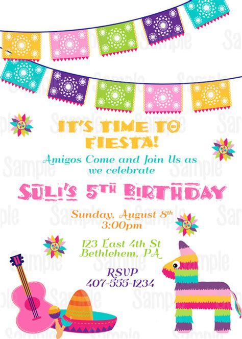 printable fiesta invitation 5 de mayo mexican birthday