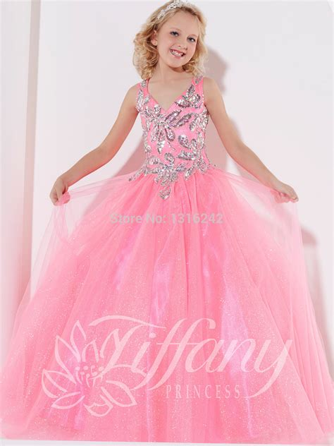 Fr Dress Giovany Kid Dress Anak 2014 flower pageant dresses pink festival customize lace up gown